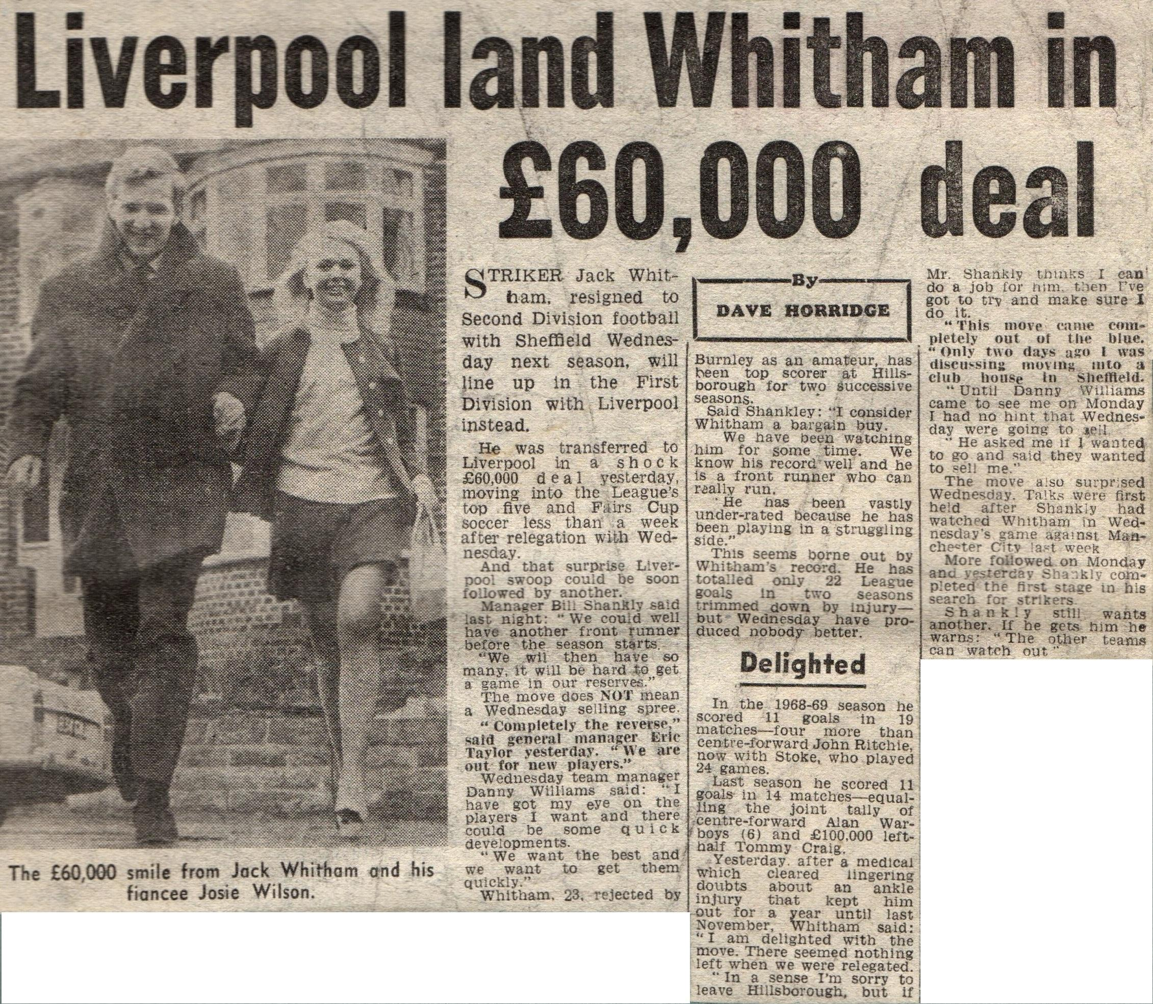 Liverpool career stats for Jack Whitham - LFChistory