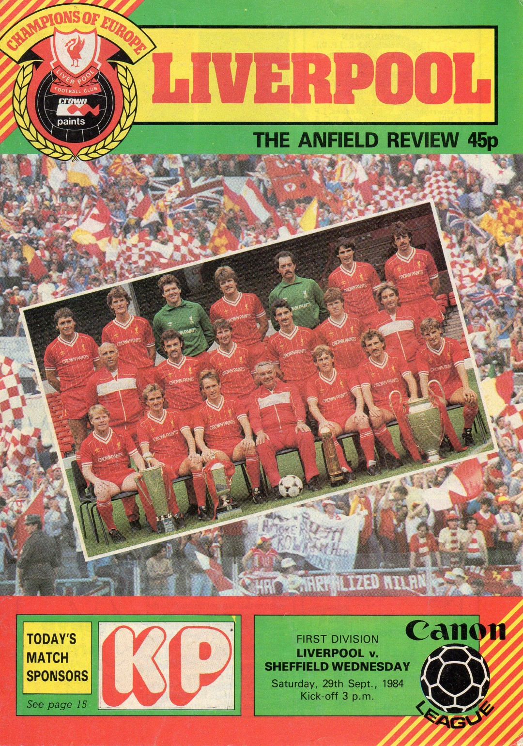 Matchdetails from liverpool sheffield wednesday played for League table 1984 85