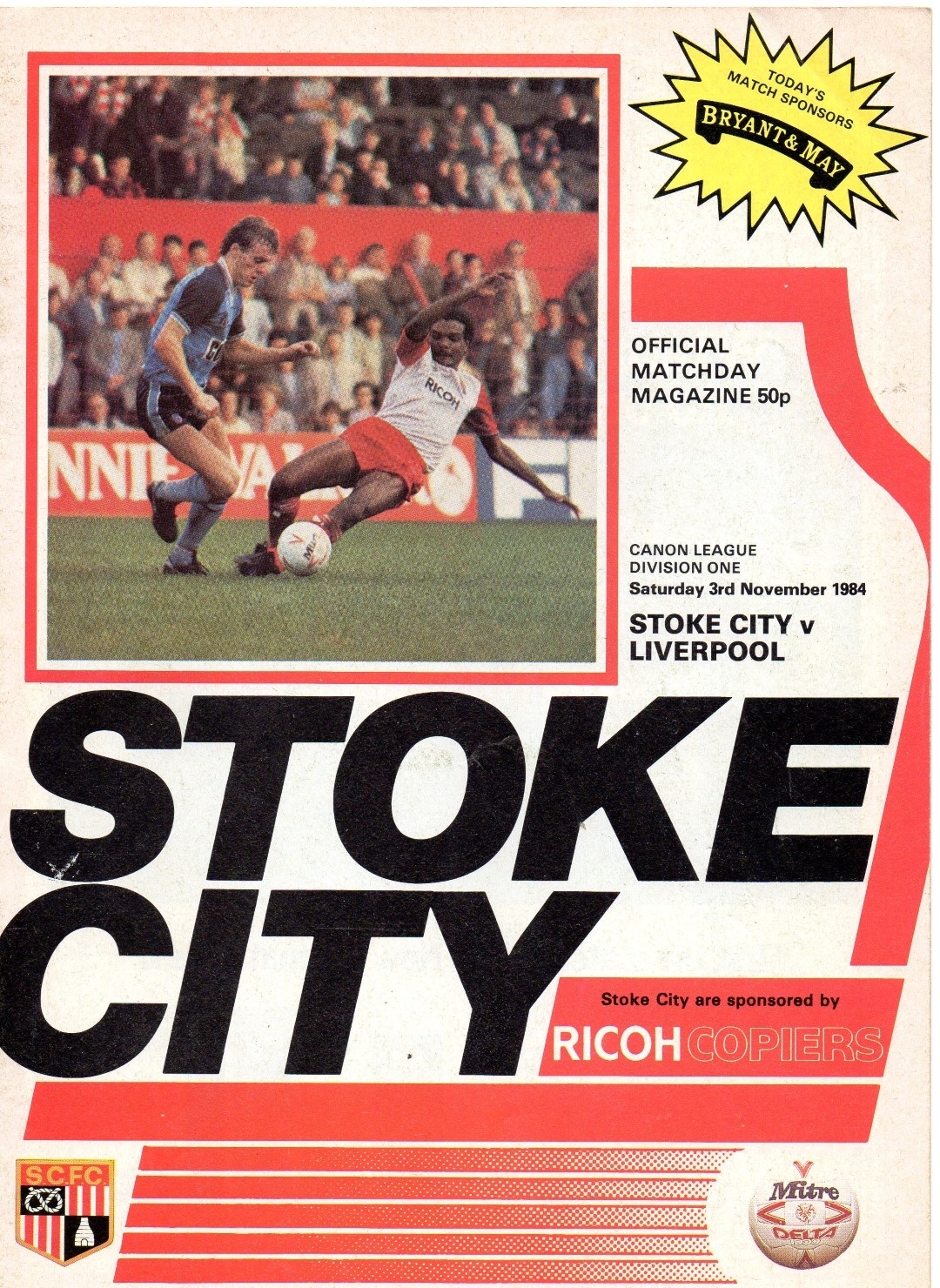 Matchdetails from stoke city liverpool played on for League table 1984 85