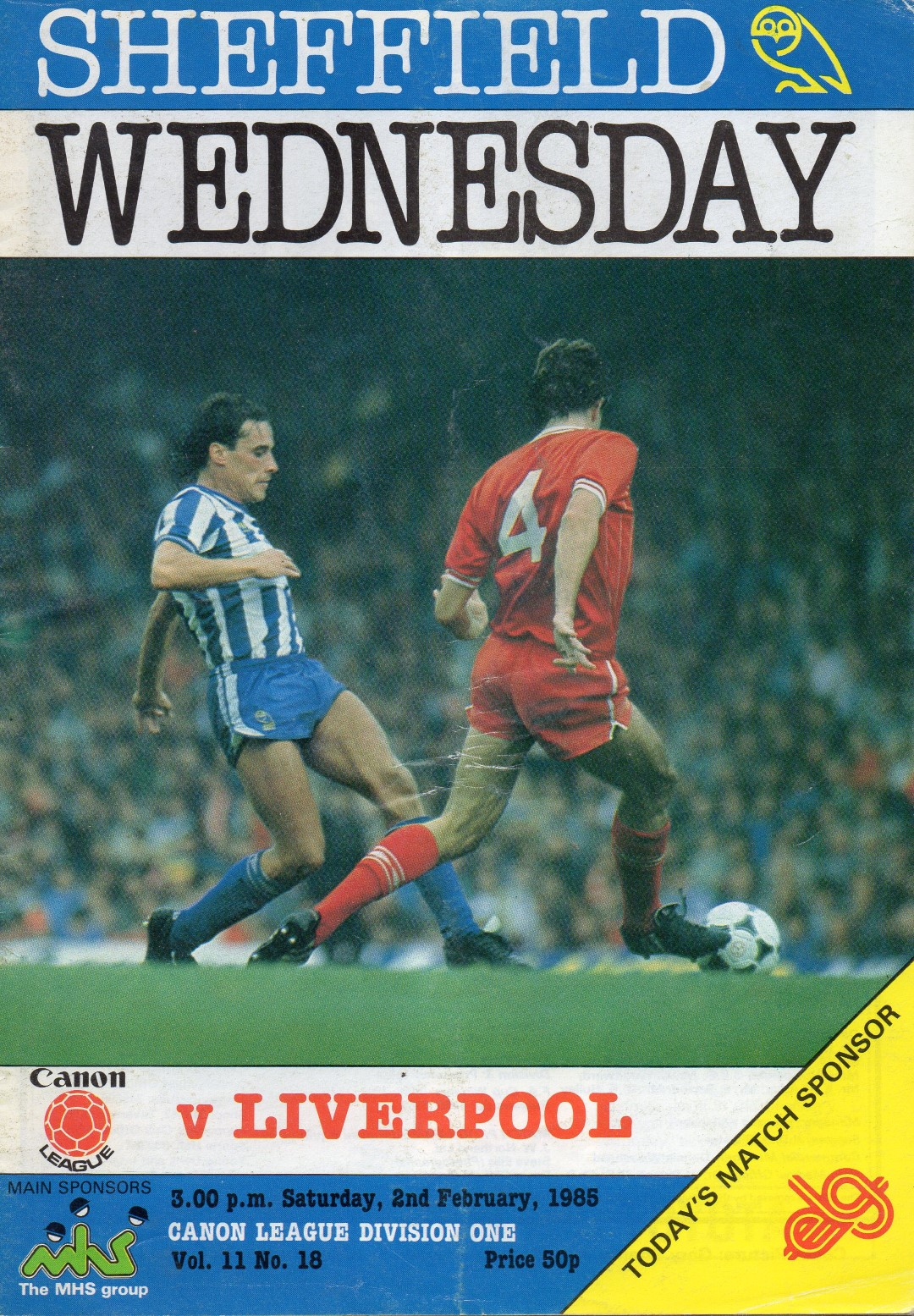 Matchdetails from sheffield wednesday liverpool played for League table 1984 85