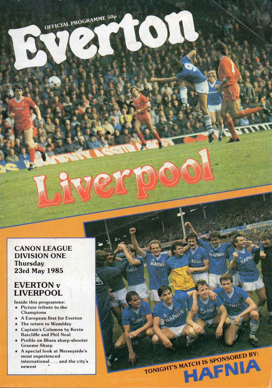 Matchdetails from everton liverpool played on thursday for League table 1984 85