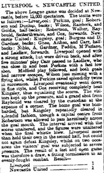 Liverpool Mercury report