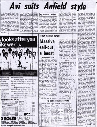 Avi suits Anfield Style - 22 February 1979