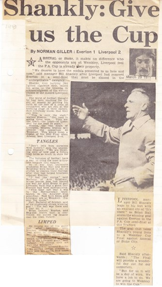 Shankly: Give us the cup