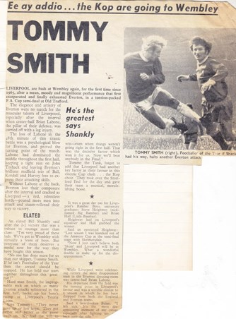 Shankly demands Tommy Smith should be player of the year