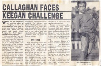 Callaghan faces Keegan challenge - 1971