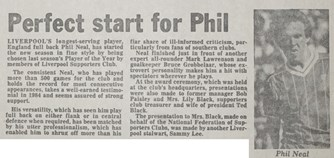 Perfect start for Phil! - 31 August 1983