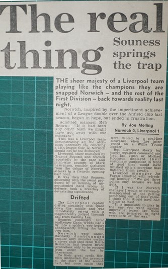 Souness springs the trap - 31 August 1983