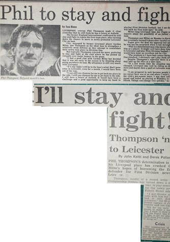 I'll stay and fight, says Phil Thompson - August 1983