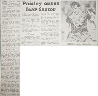 Paisley cures Hodgson's fear factor