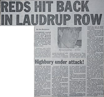 Reds hit back in Laudrup row