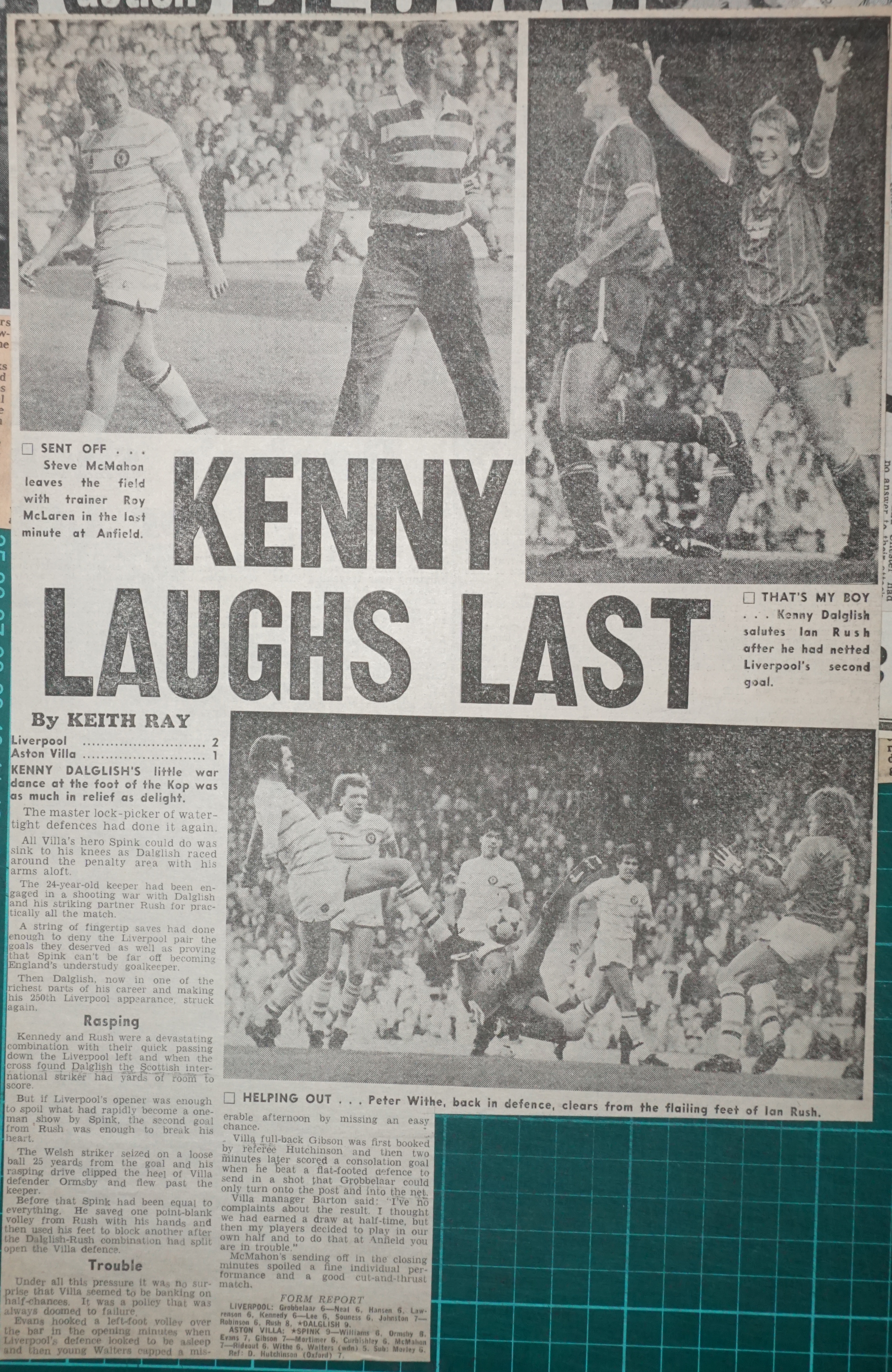 Kenny laughs last - 17 September 1983