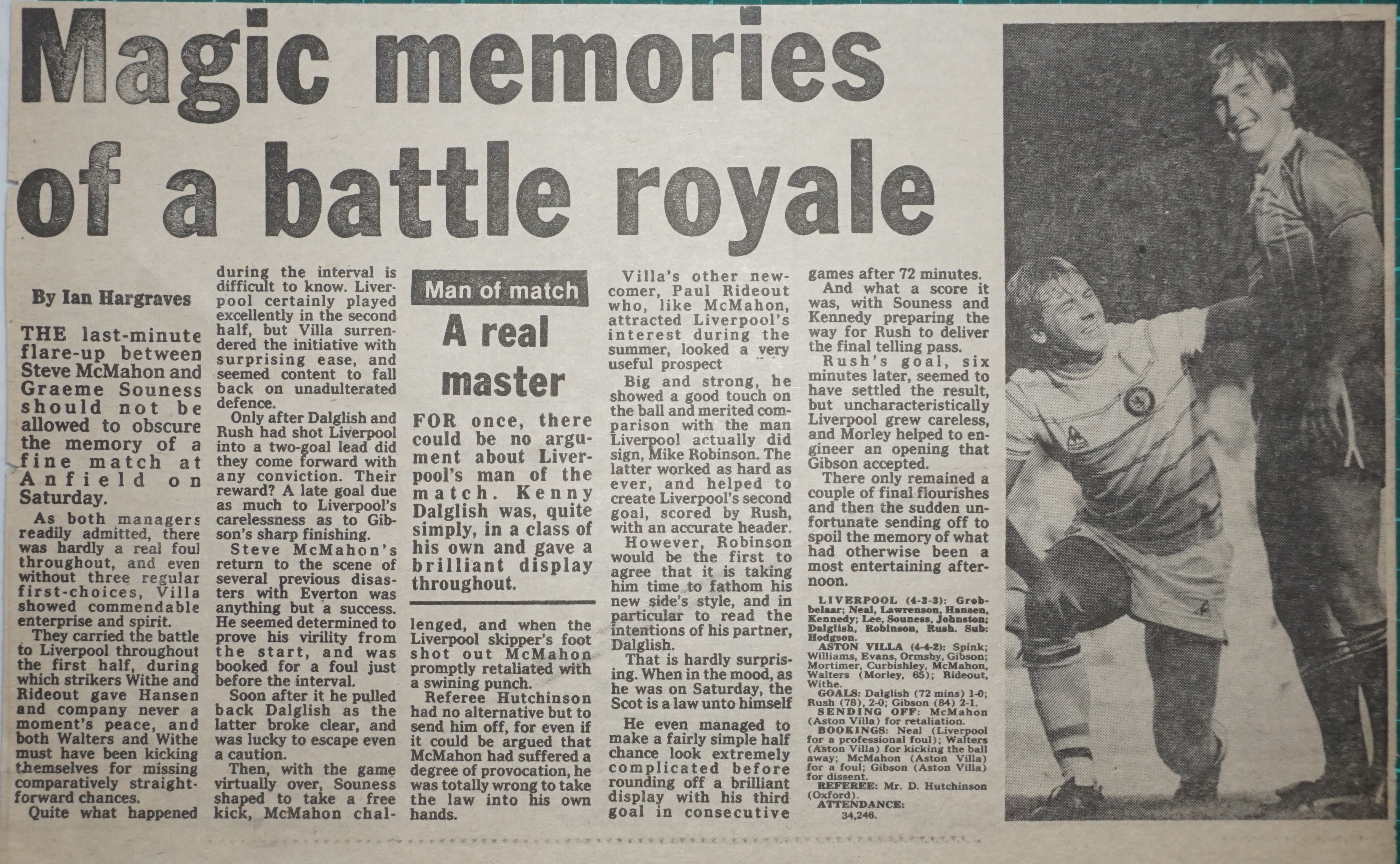 Magic Memories of a battle royale! - 17 September 1983