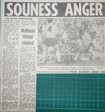 Souness anger - 17 September 1983