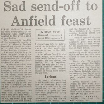 Sad send-off to Anfield feast