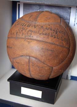 Merseyside derby match ball from 1932!