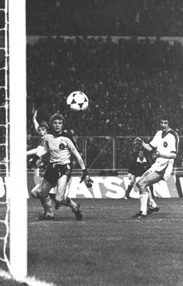 Dalglish scoring against Bruges