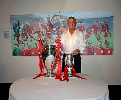 John Martin with the Euro Cup and the Super Cup