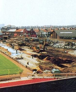 The Kop was bulldozed in the summer of 1994