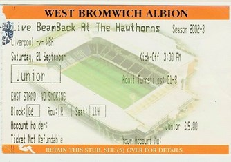 WBA Ticket from tv screening event)