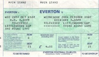 Televised Match ticket