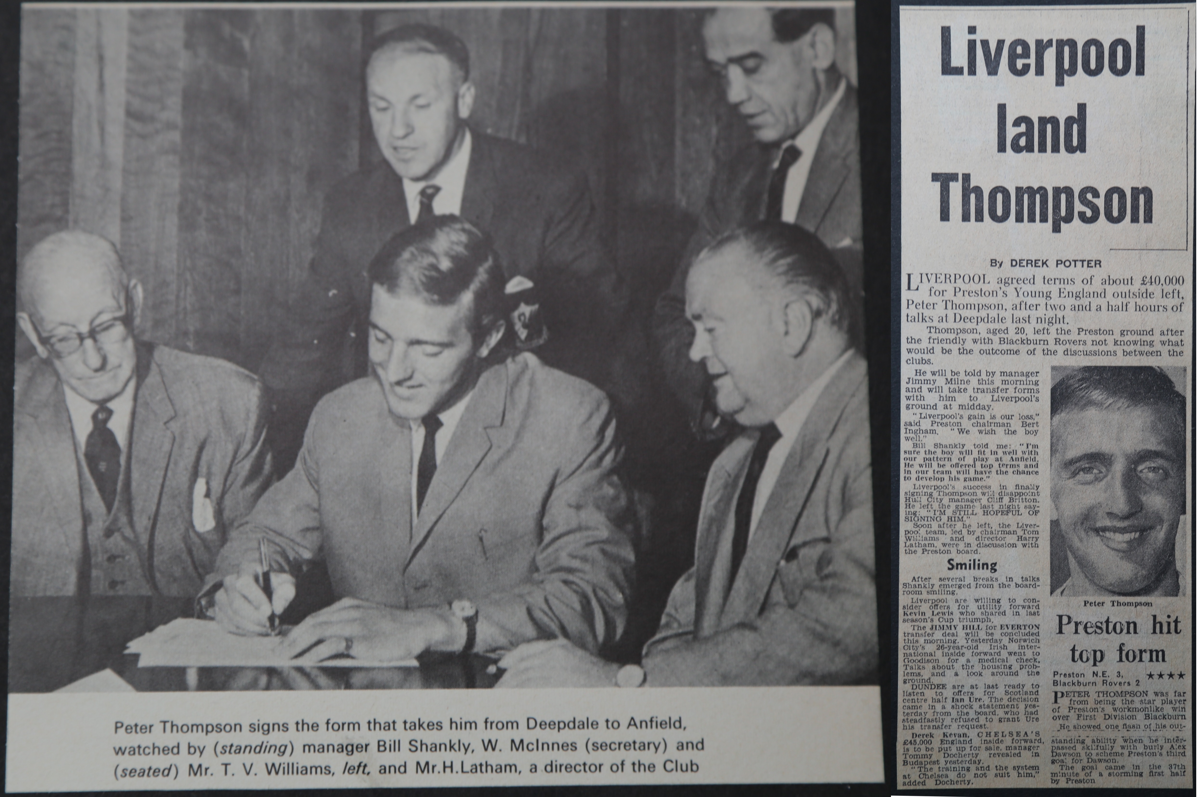 Thompson signs for the Reds! - August 1963
