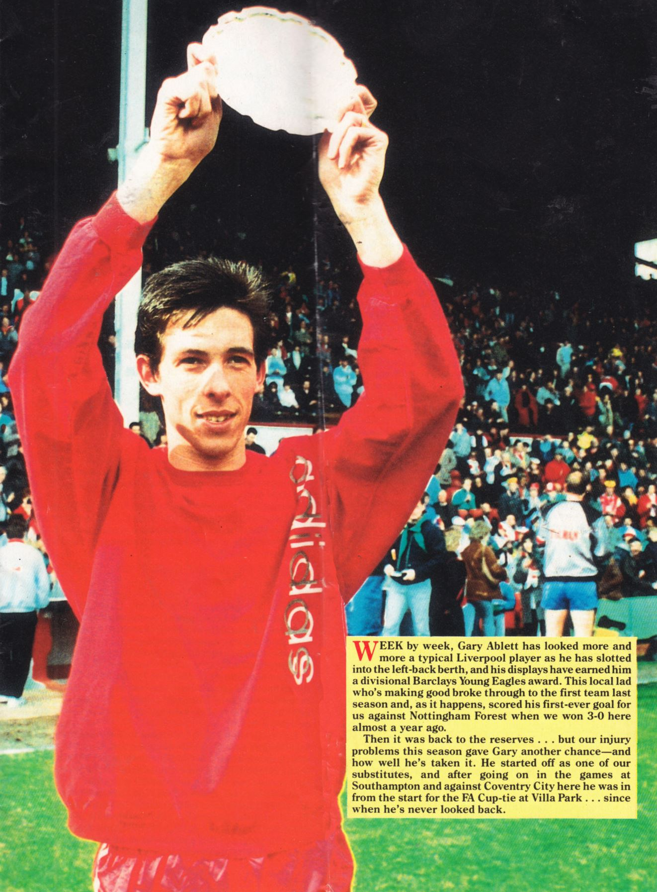 Looking like a typical Liverpool player - April 1988