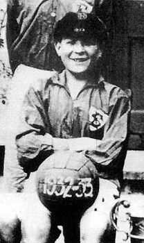 An up and coming footballer - 13-year-old Bob Paisley