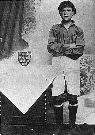 Bob in his Durham Schoolboys kit
