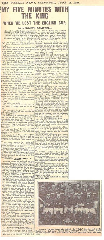 My five minutes with the king - The Weekly News 18 June 1921