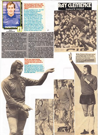 Page from Arnie's scrapbook (editor of LFChistory.net)