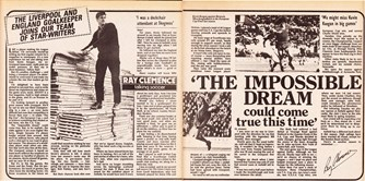 27 August 1977 - First Shoot! column for Clemence