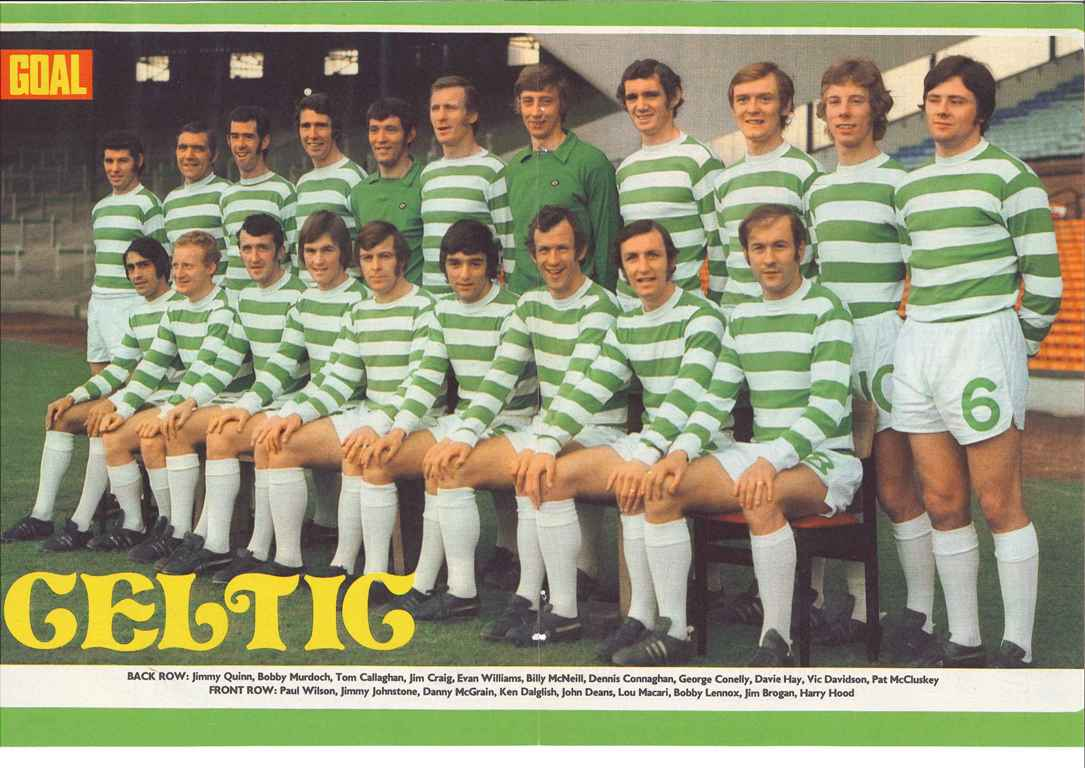 Celtic team poster from 1971/72