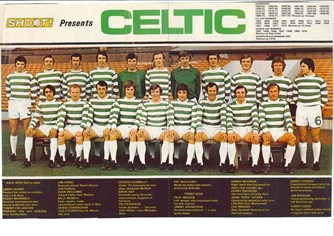 Celtic team poster from 1972/73