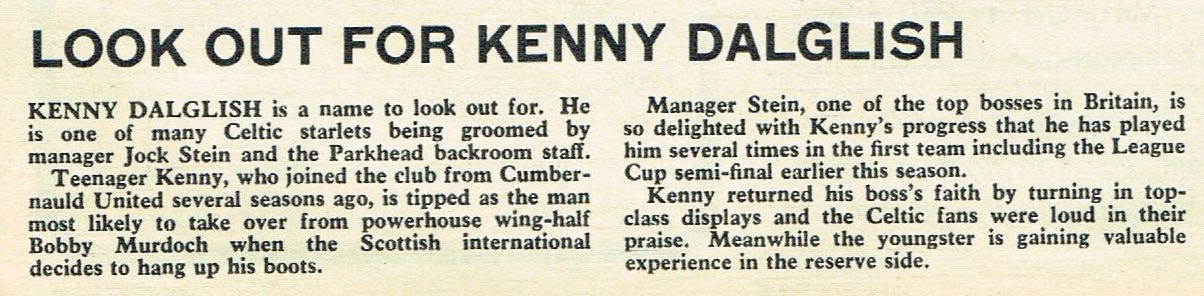 Look out for Kenny Dalglish - 21 February 1970