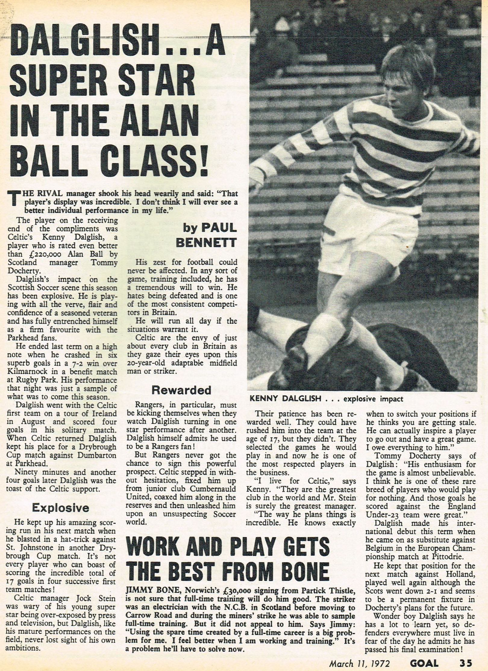 A superstar in the Alan Ball class! - 11 March 1972