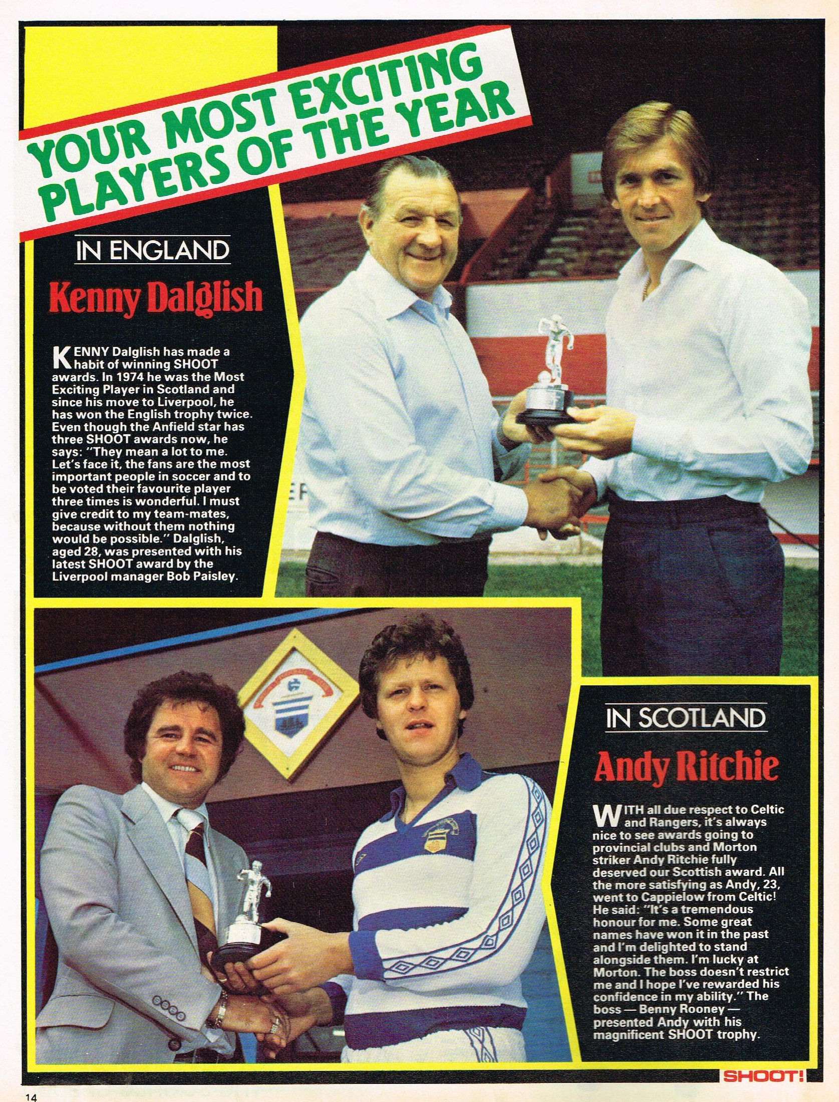 Most exciting player of the year - 25 August 1979