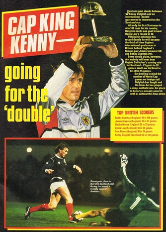Cap king Kenny going for the double - 26 April 1986