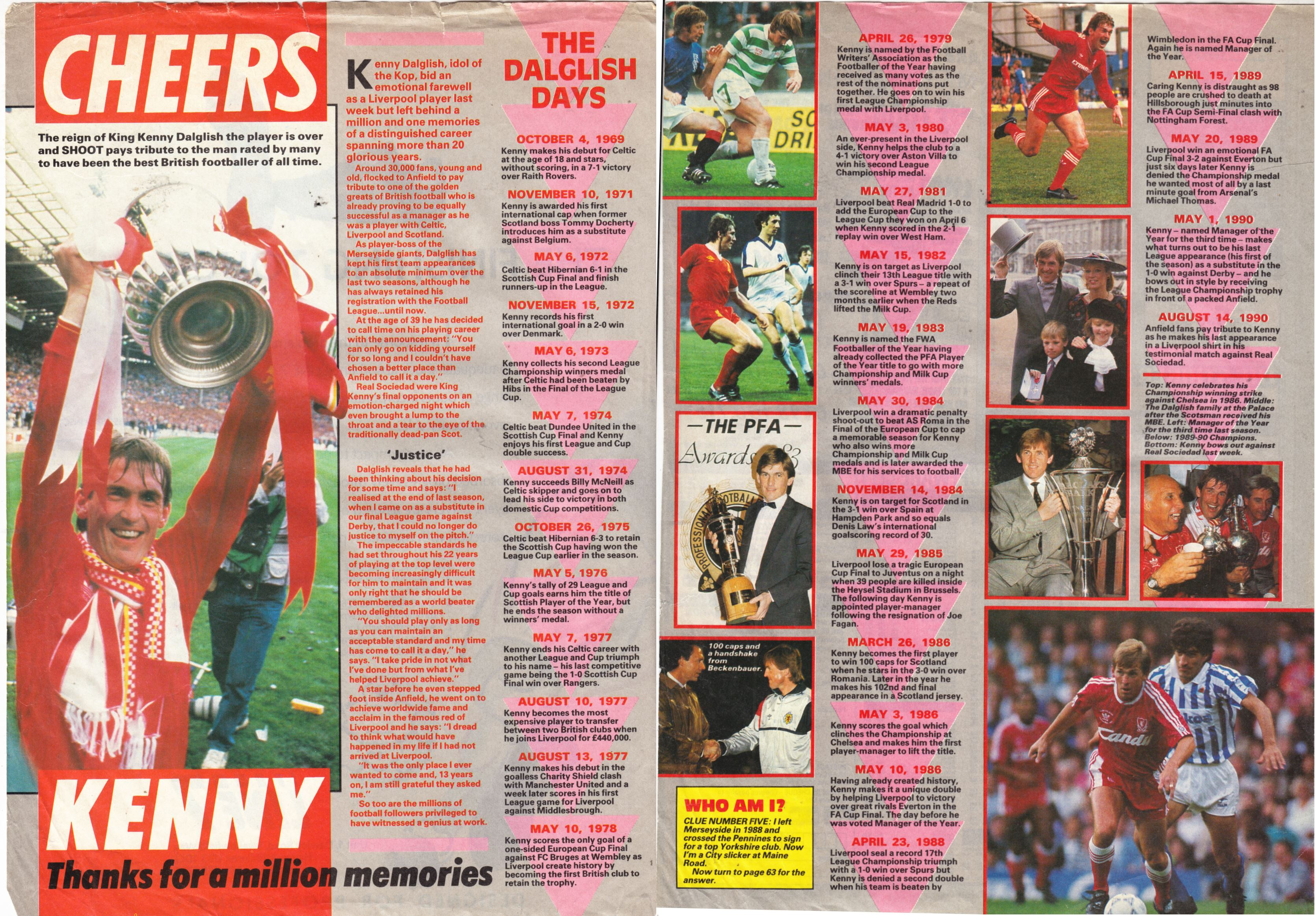 Cheers Kenny! - August 1990