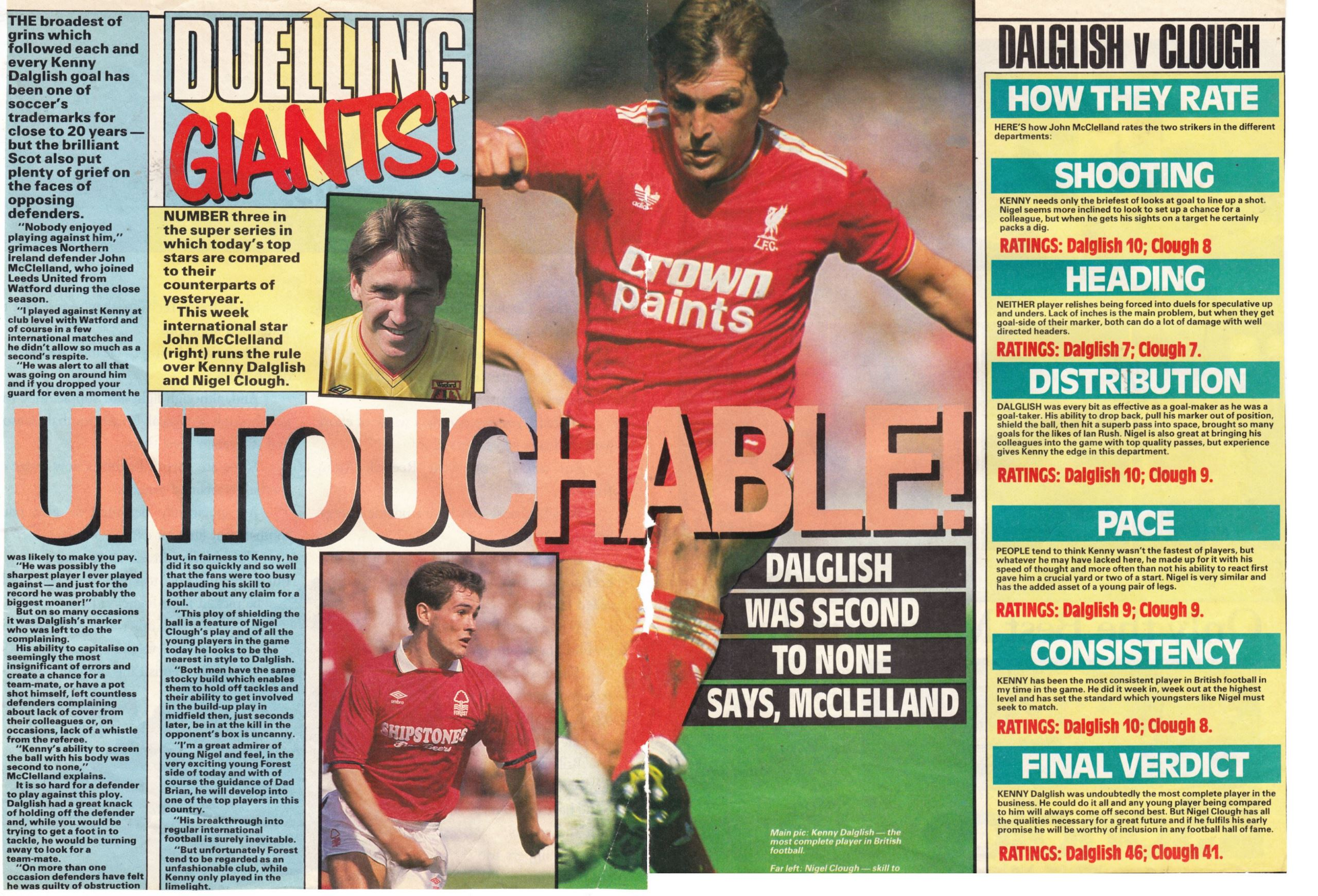 Duelling giants - Nigel Clough vs. Kenny Dalglish - 1989