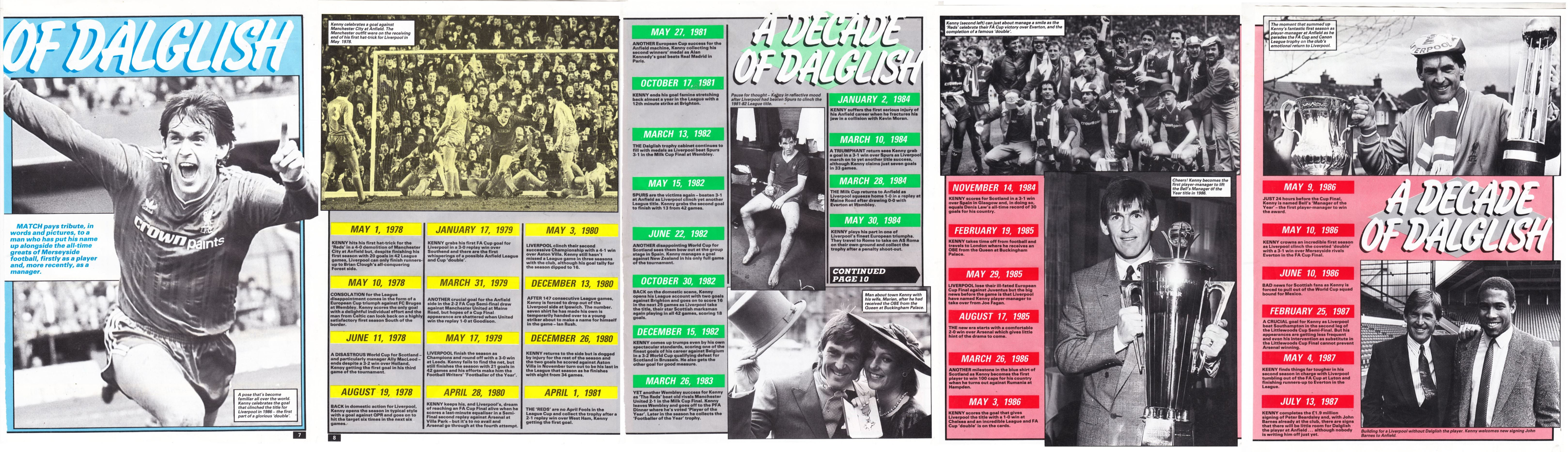 A decade of Dalglish 1977-1987