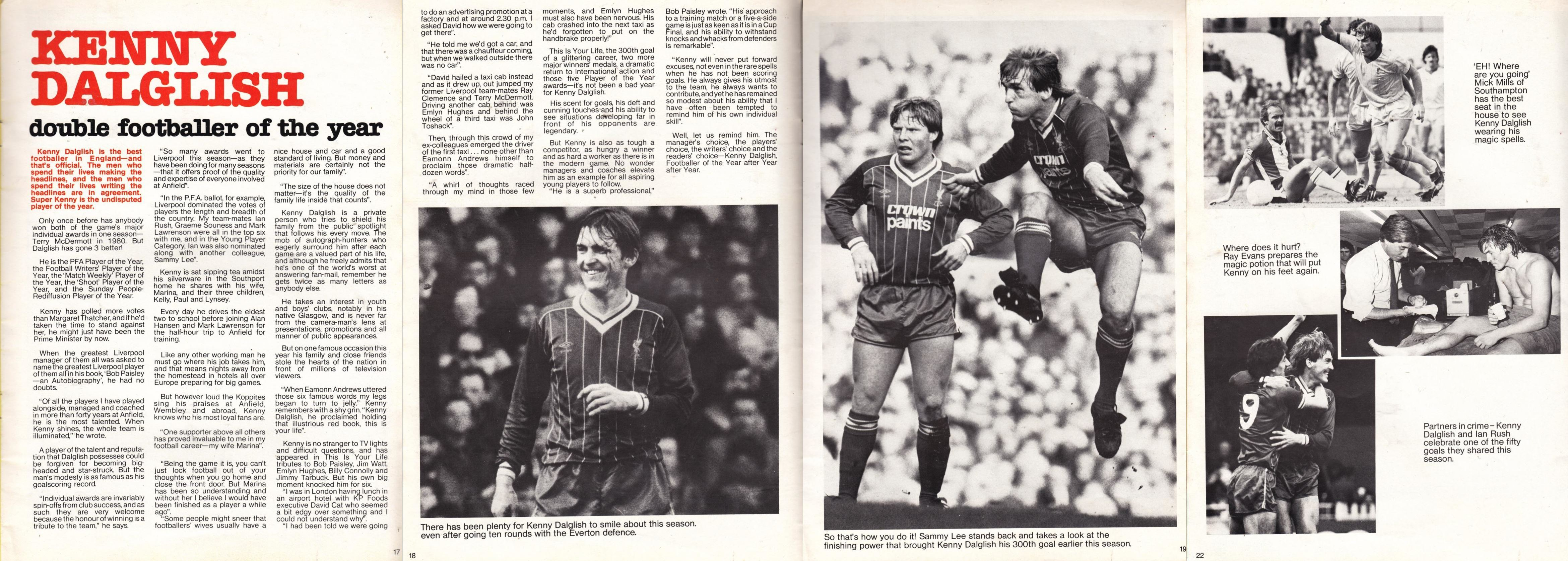 Double footballer of the year 1982/83