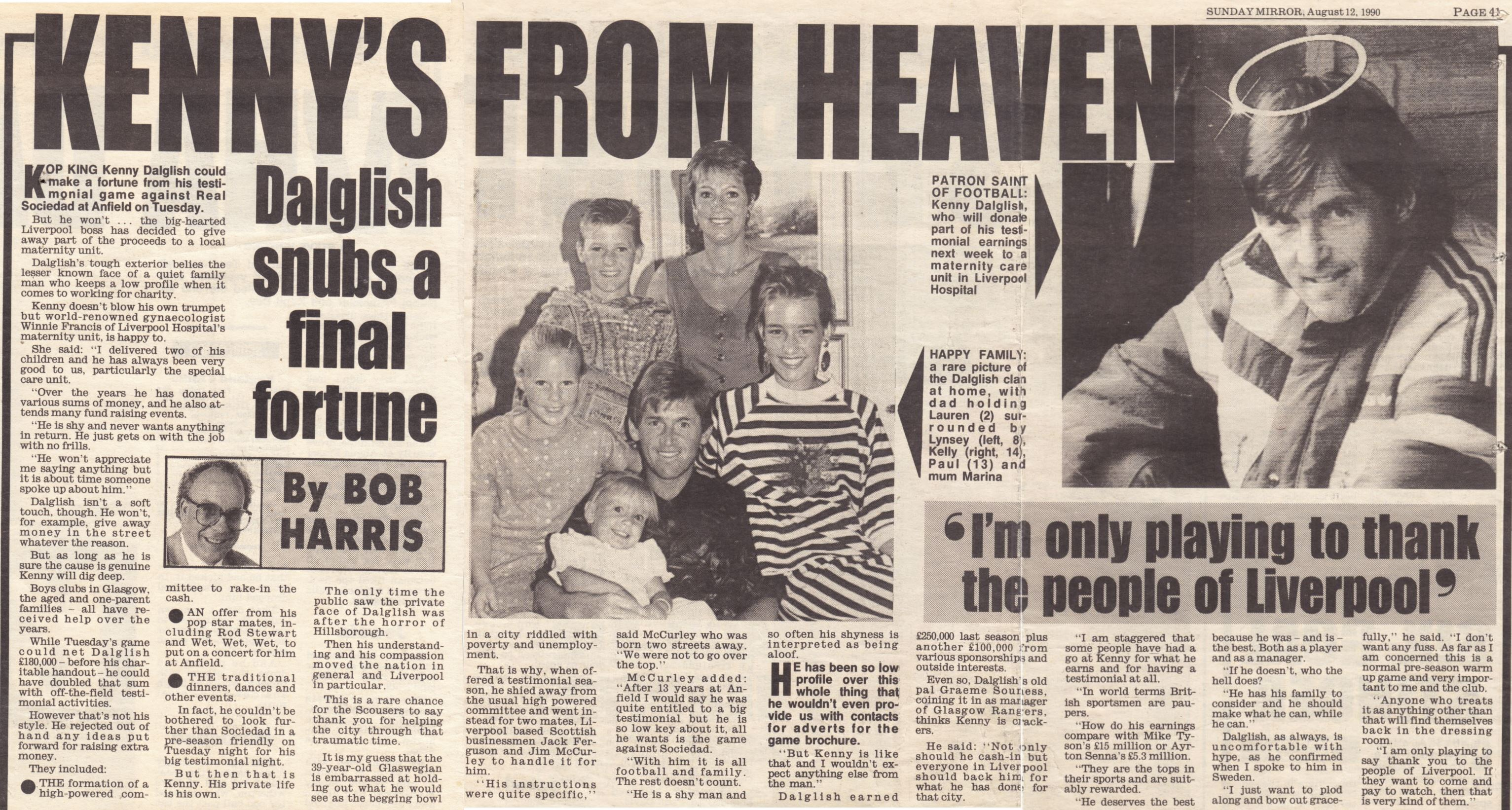 Kenny's from heaven -12 August 1990