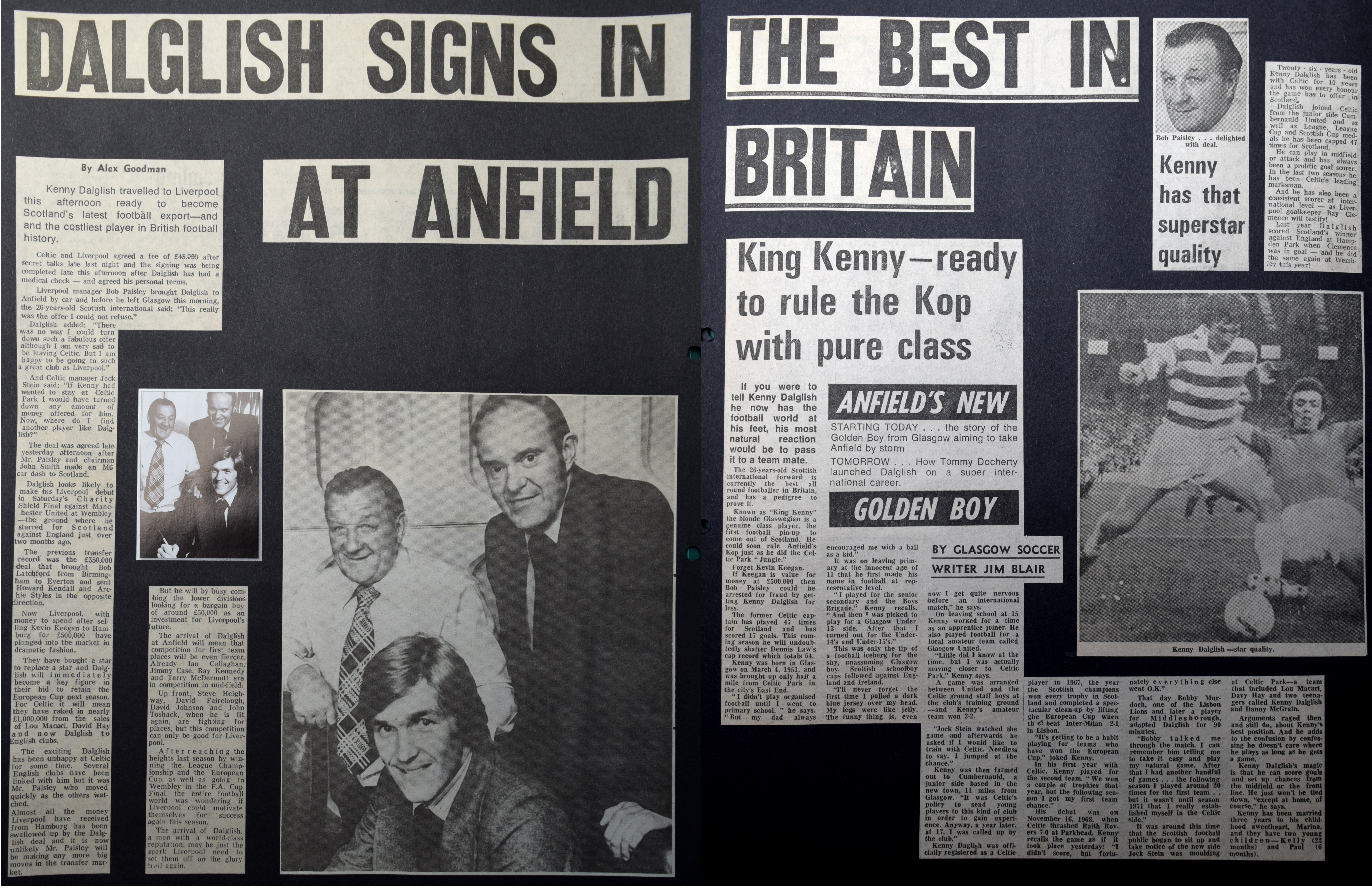 Dalglish signs in at Anfield - 10 August 1977