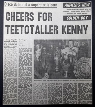 Cheers for teetotaller Kenny - August 1977