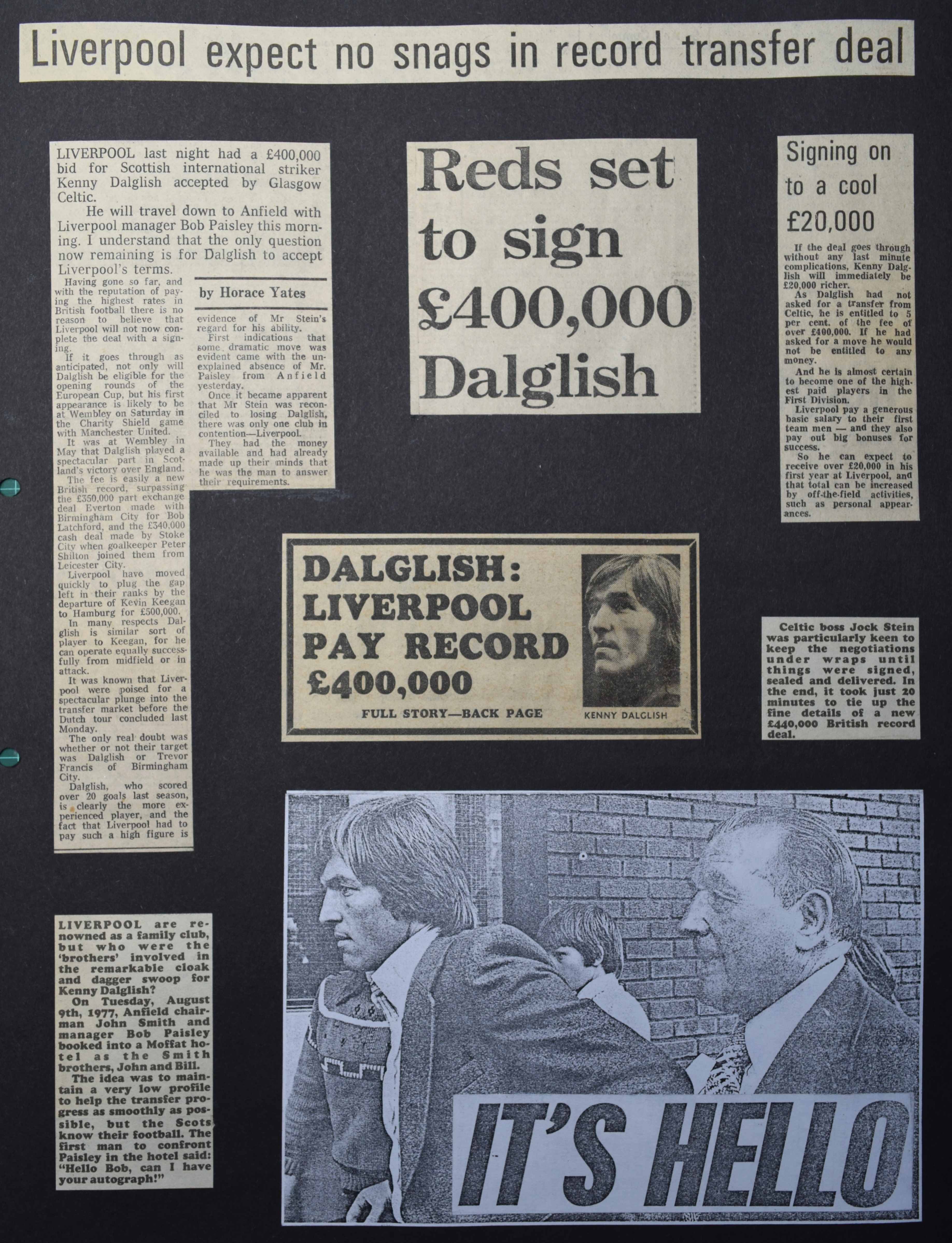 Dalglish set to sign - 9 August 1977