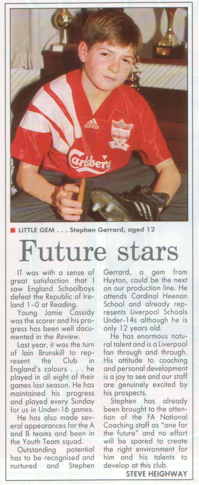 Liverpool career stats for Steven Gerrard LFChistory Stats