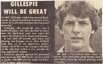 Gillespie will be great - 1979