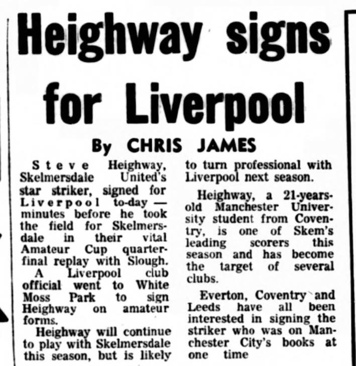 Heighway signs for Liverpool