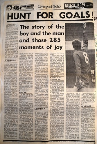 Hunt for goals! - Liverpool Echo 1972